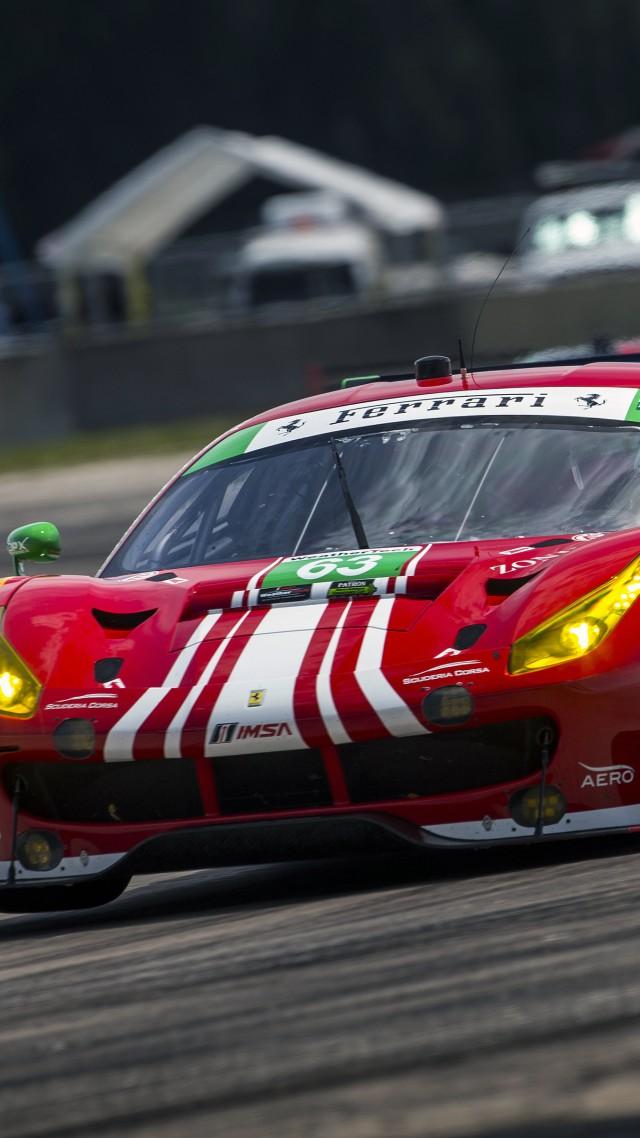 ... Ferrari 488 GTE, Sport Cars, Race Cars, Red (vertical)