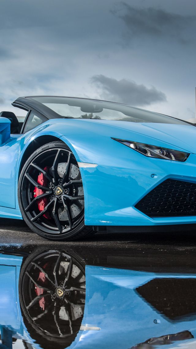 Wallpaper Lamborghini Huracn LP 6104 Spyder bodykit blue Cars