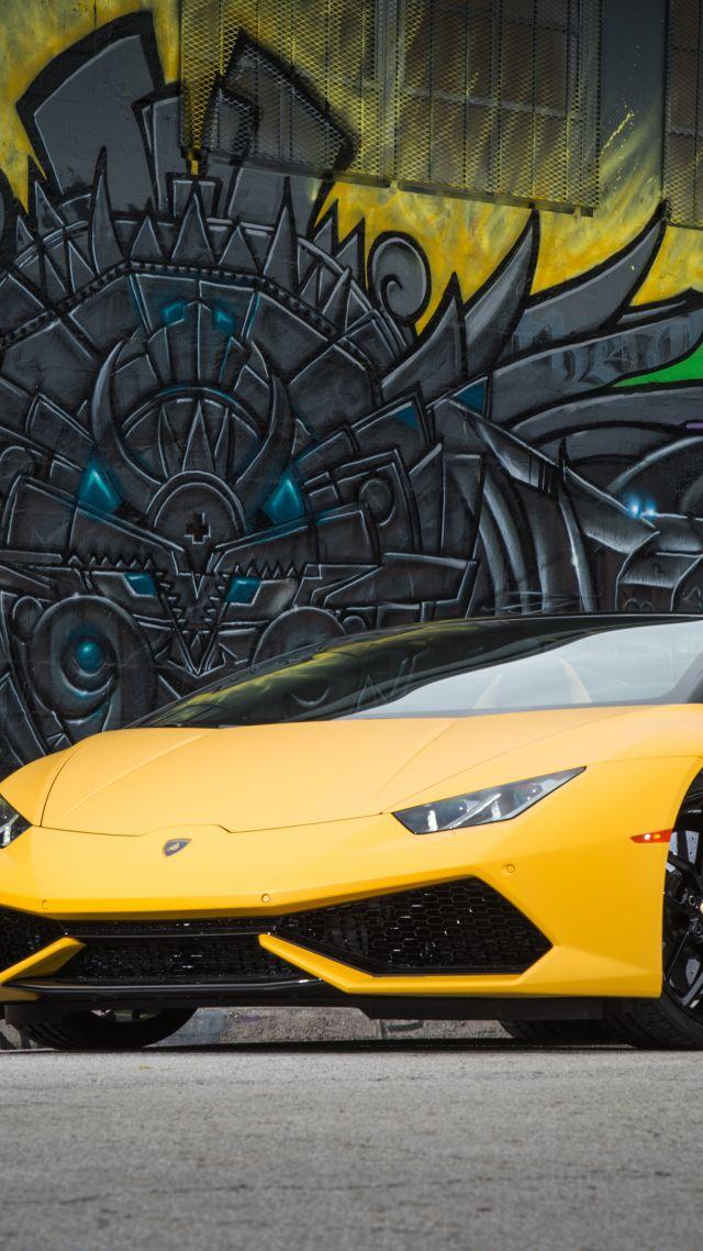 lamborghini huracn lp 610 4 spyder bodykit graffiti yellow vertical