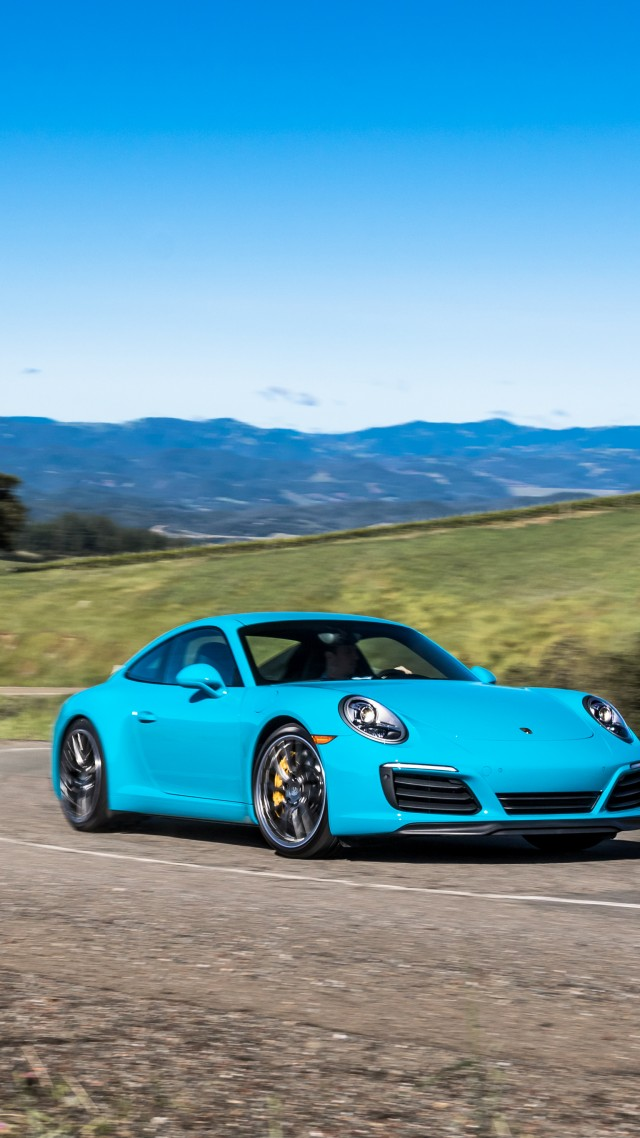 ... Porsche 911 Carrera 4S Coupe, Blue (vertical)