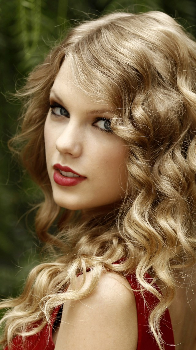 Taylor Swift, Taylor Alison Swift, artists, music, songwriter, actress red lips, hair, look, green (vertical)