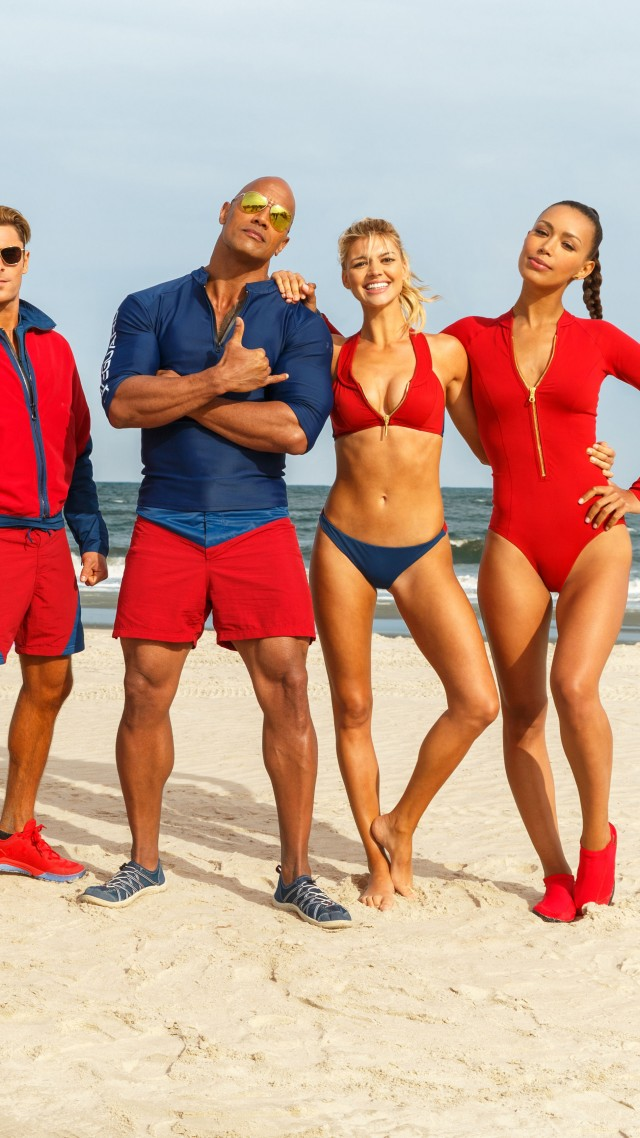 Baywatch, Dwayne Johnson, Zac Efron, Alexandra Daddario, best movies (vertical)