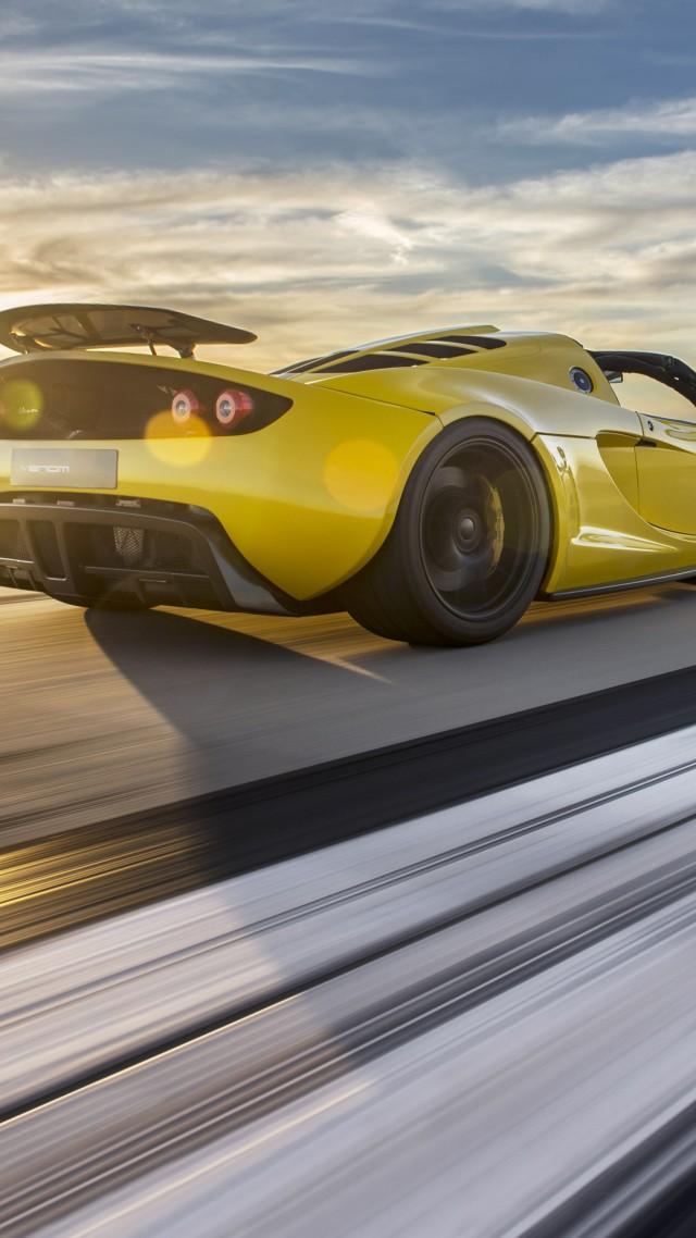 Wallpaper Hennessey Venom Gt Spyder Yellow Flag Usa Sport