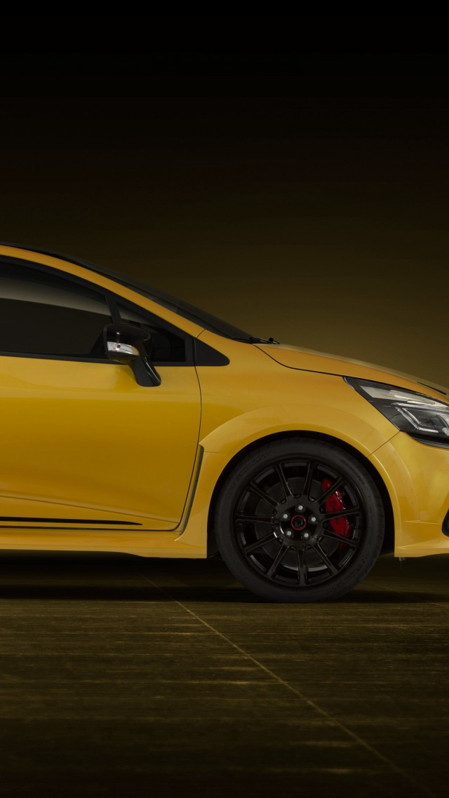 wallpaper renault clio rs 16 yellow hot hatch cars bikes 10977. Black Bedroom Furniture Sets. Home Design Ideas
