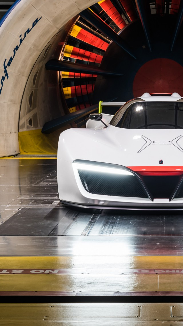 Pininfarina H2, supercar, hydrogen, hydrogen fuel cell, sport car, white (vertical)