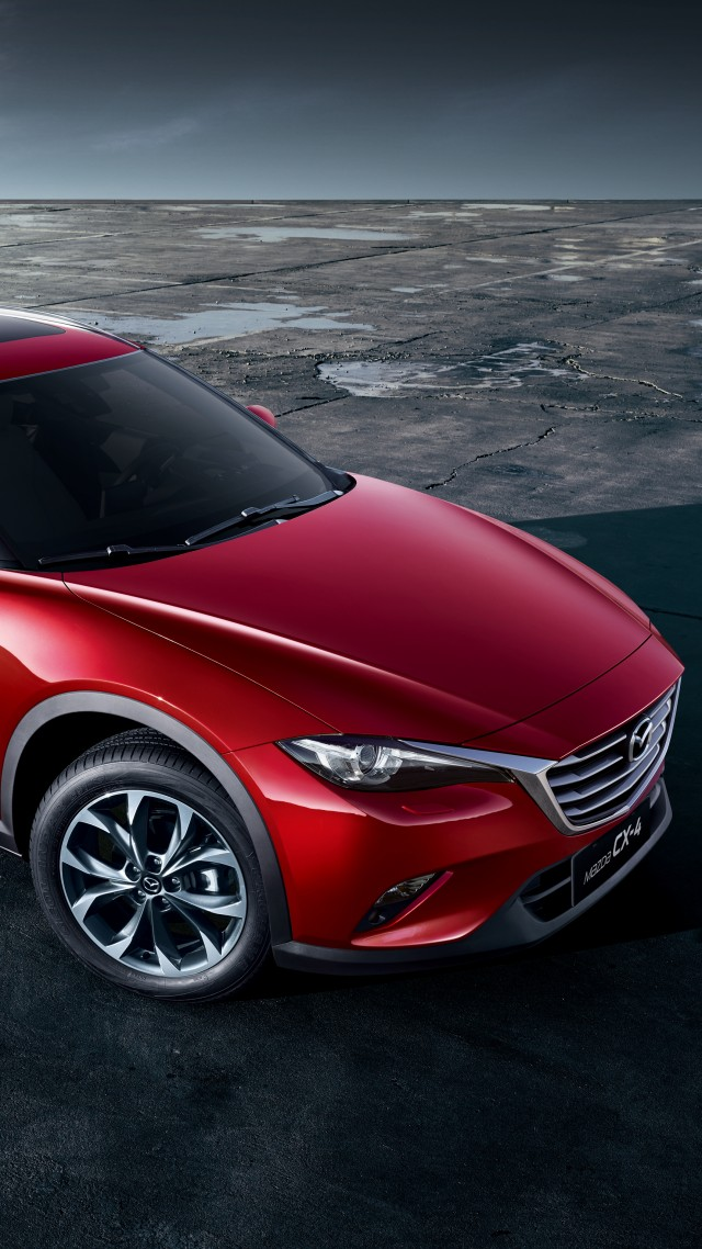 Mazda CX4, crossover, red (vertical)