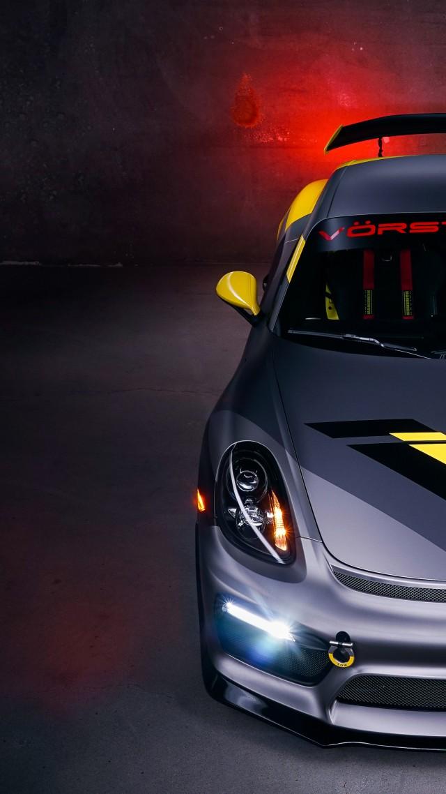 Wallpaper Porsche Cayman Gt4 Vorsteiner Tuning Sport Car Cars