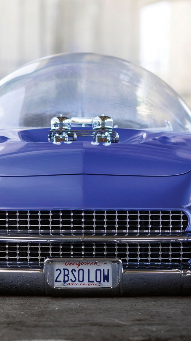 Ford Beatnik Bubbletop Custom 1955 Retrofuture Future Blue Vertical