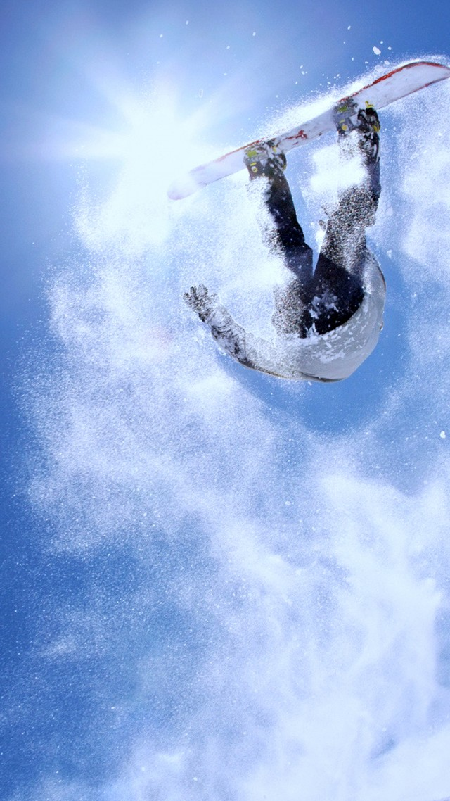 Extreme snowboarding, winter, jump, snow (vertical)