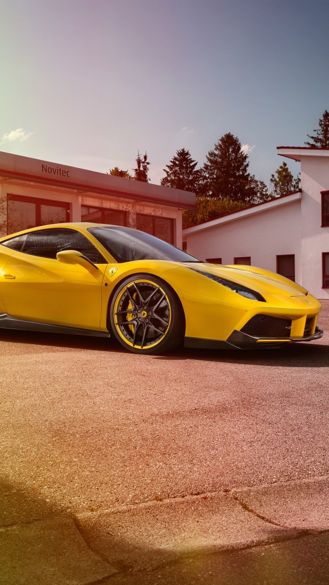 Wallpaper Novitec Rosso Ferrari 488 Gtb Supercar Yellow Speed