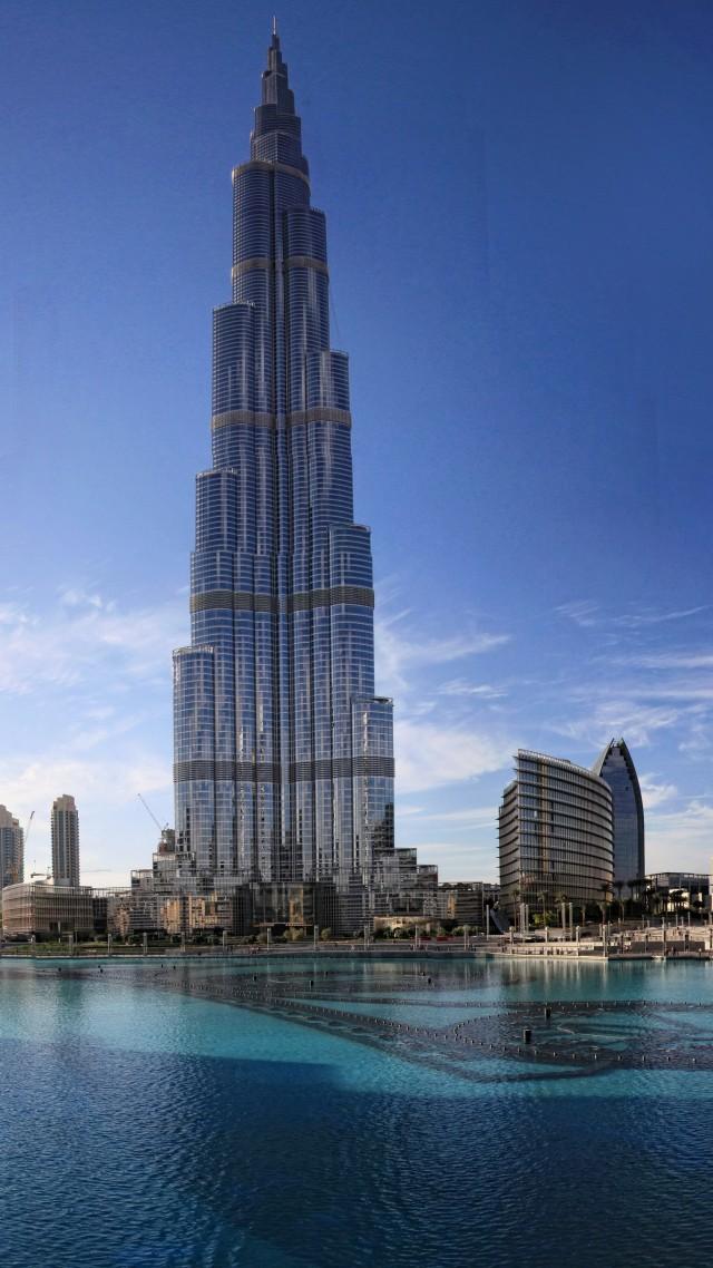 Resort Khalifa Tower Dubai Sky Clouds Water Pool Hotel