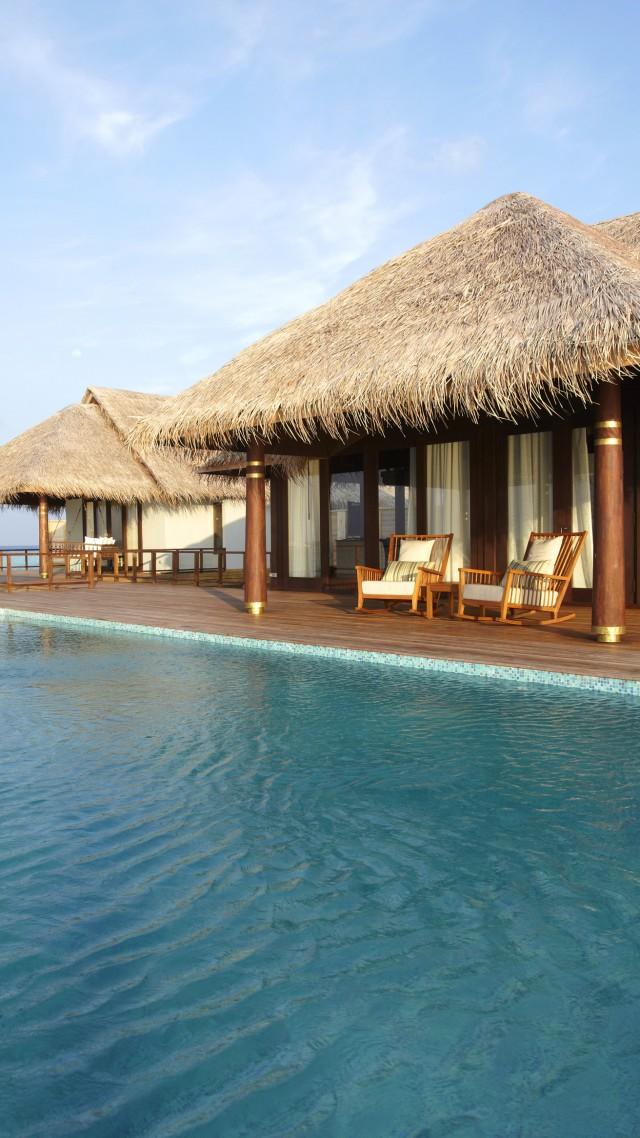 Wallpaper Anantara Kihavah Villas Maldives Resort Pool Ocean