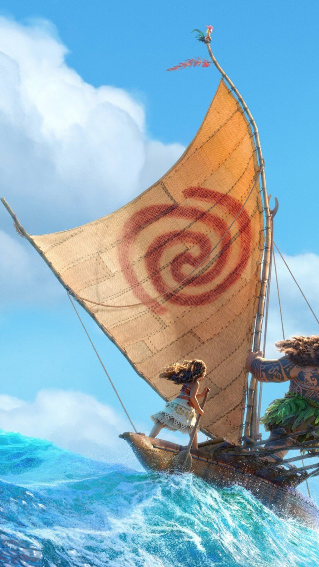 Moana, Maui, ocean, best animation movies of 2016 (vertical)