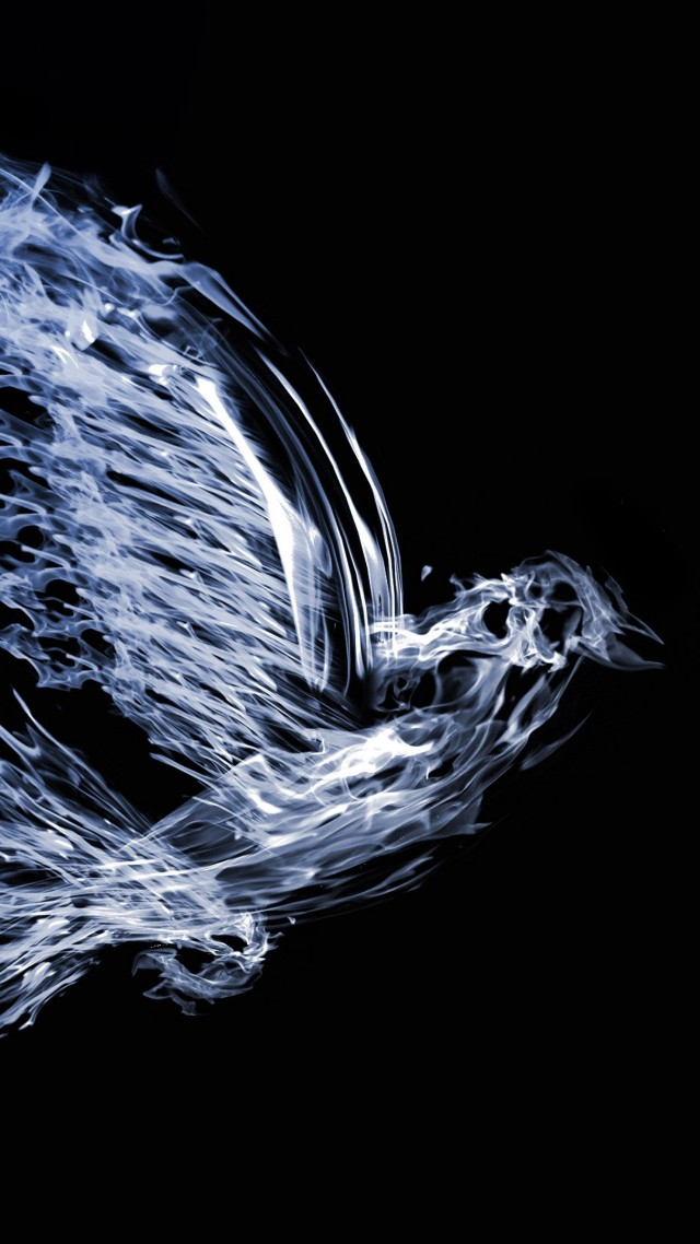bird, 4k, 5k wallpaper, art, fire, water (vertical)