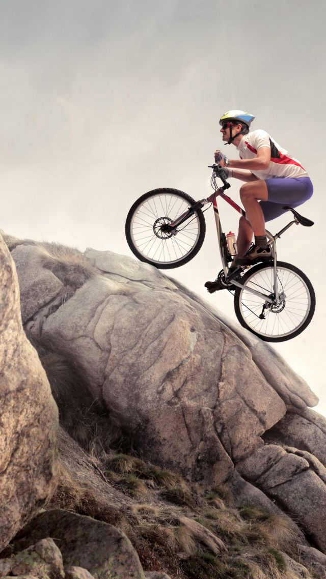 rock, climbing, cycle, extreme