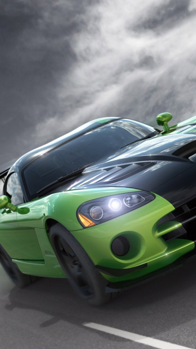 ... Dodge Viper GTS R, Commemorative Edition ACR, Green, Speed (vertical)