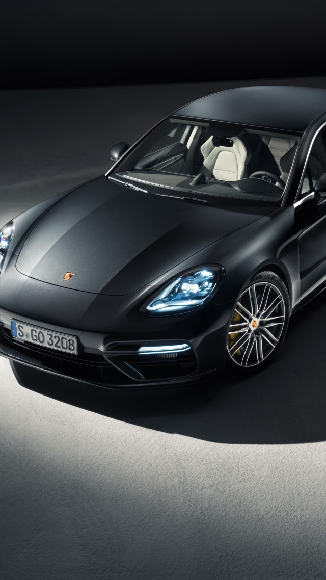 Porsche Panamera Turbo Sedan Black Vertical