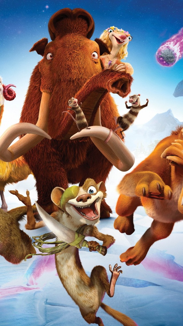 Ice Age 5: Collision Course, sid, mammoths, best animations of 2016 (vertical)