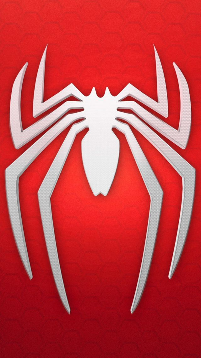 Spiderman Logo Background Red White Vertical