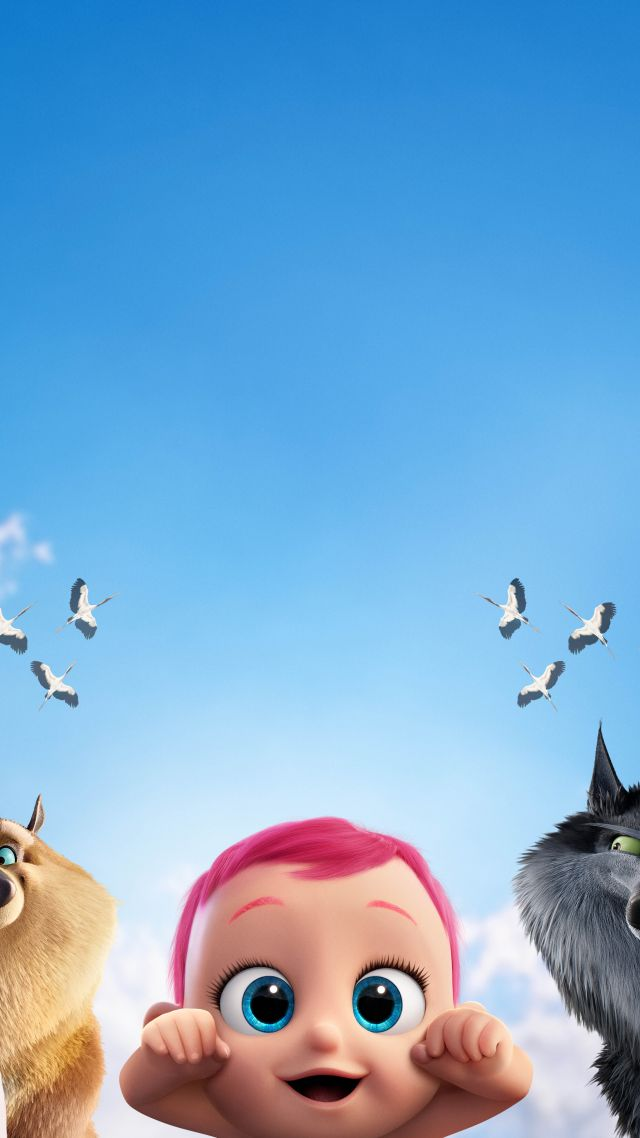 Storks, baby, eagle, wolf, best animation movies of 2016 (vertical)