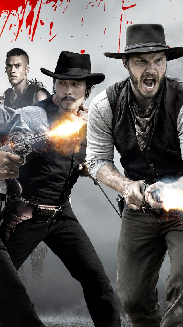 The Magnificent Seven, Denzel Washington, Chris Pratt, Ethan Hawke (vertical)