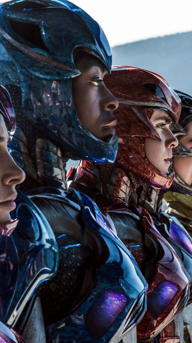 Wallpaper Power Rangers, team, Dacre Montgomery, Becky G
