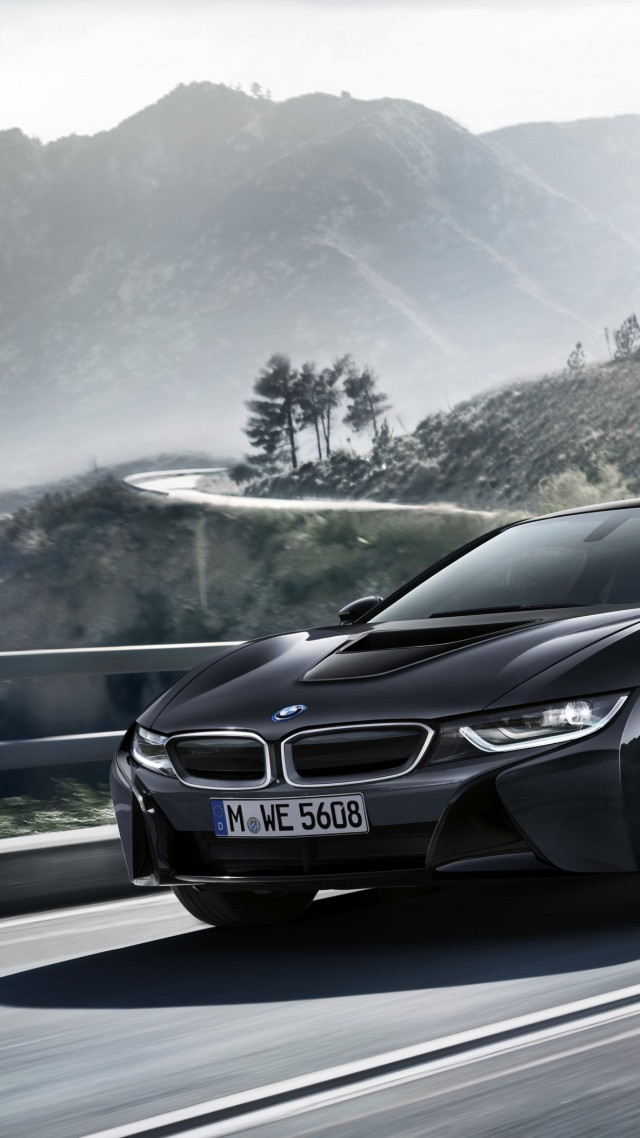 "BMW i8 ""Protonic Dark Silver Edition"", paris auto show 2016, black"