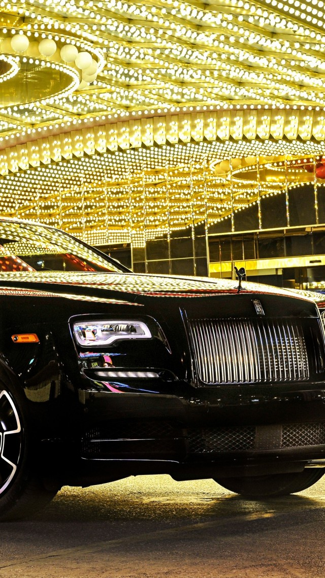 Wallpaper Rolls Royce Wraith Black Badge Paris Auto Show 2016