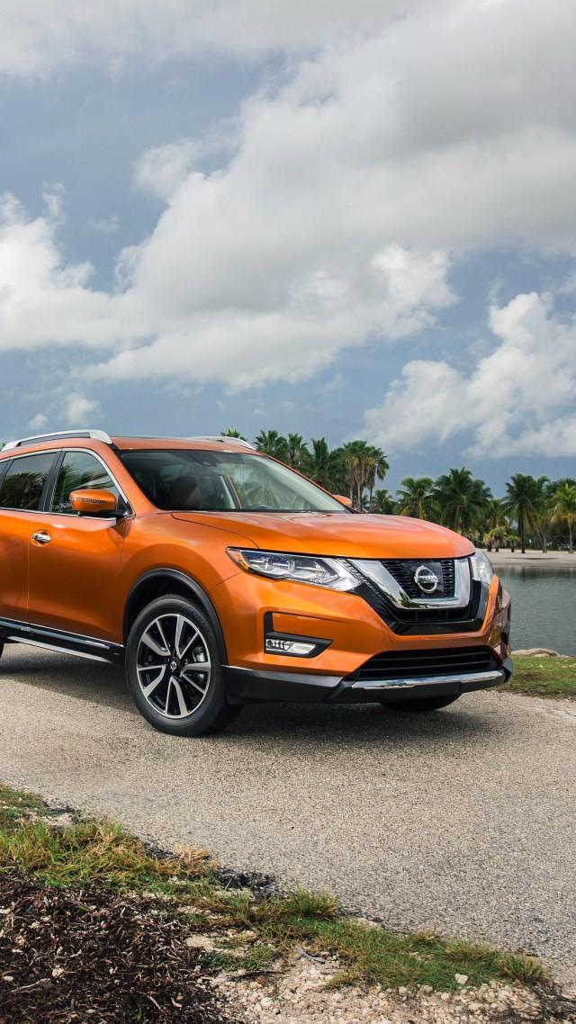 Wallpaper Nissan Rogue Sl Hybrid Crossover Orange Cars