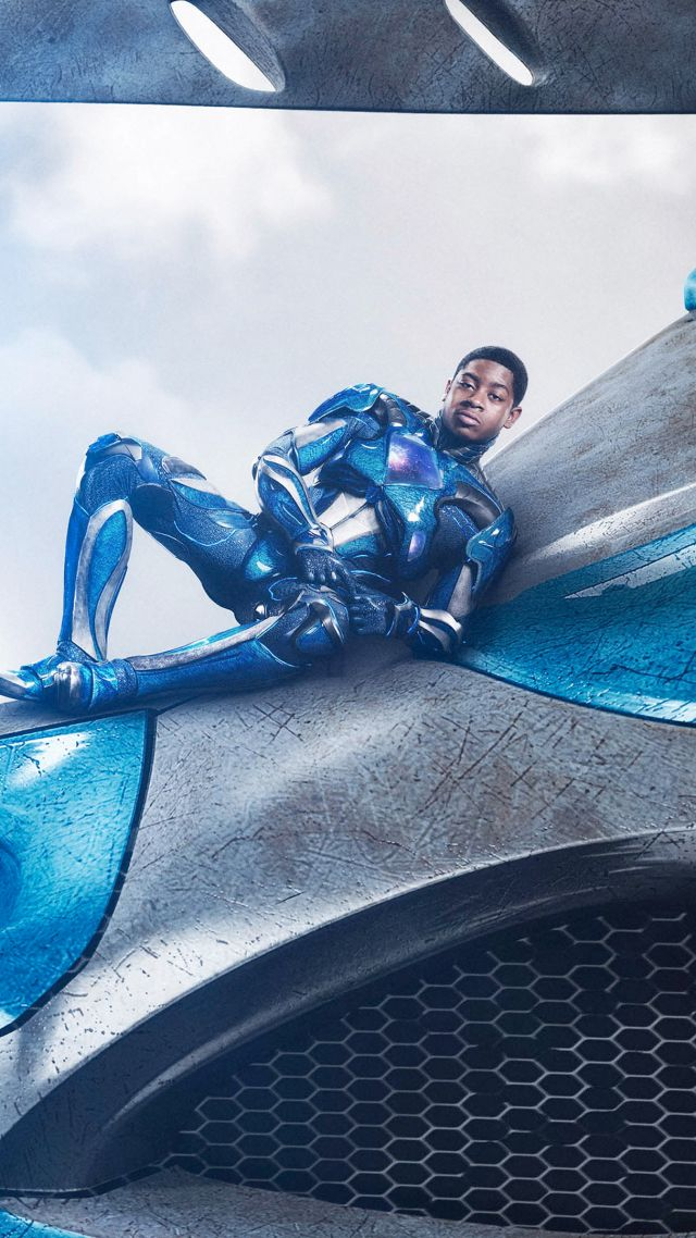Power Rangers, blue, RJ Cyler, superhero (vertical)