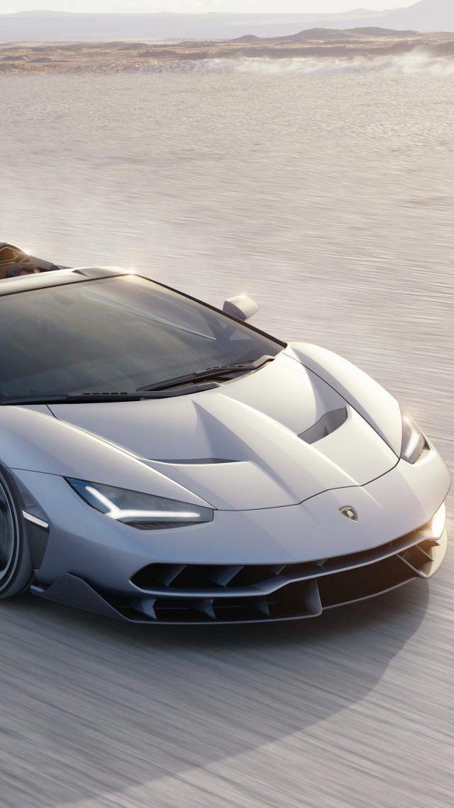 Wallpaper Lamborghini Centenario Roadster Supercar Silver Cars