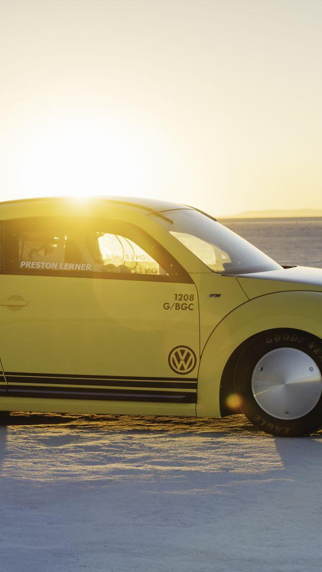 Wallpaper Volkswagen Beetle Lsr Rally Yellow Speed Cars Bikes