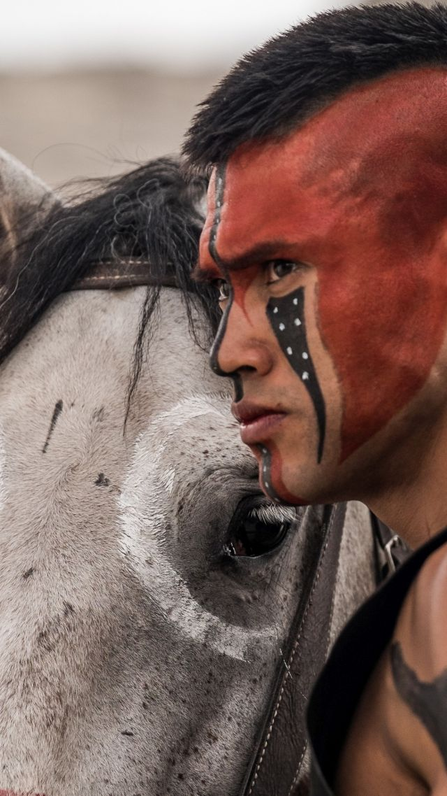 The Magnificent Seven, Martin Sensmeier, indian, horse (vertical)
