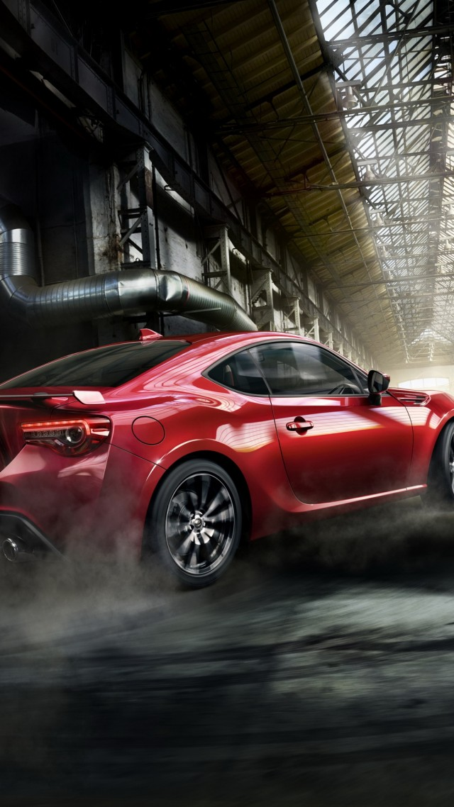 Toyota GT 86, sport cars, red, coupe (vertical)