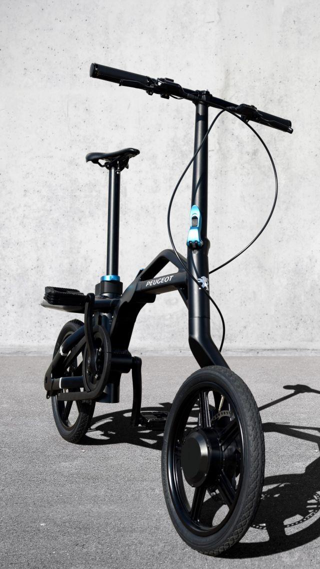 wallpaper peugeot ef01, paris auto show 2016, electric, folding bike
