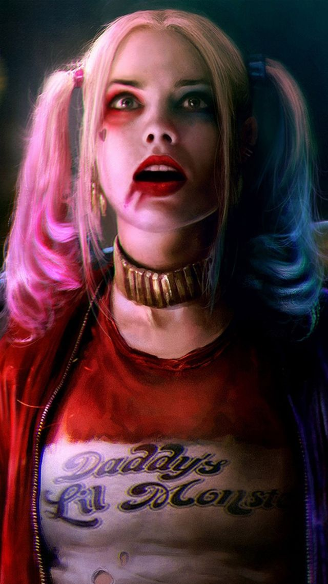 Harley quinn, Suicide Squad, art, Margot Robbie, Best Movies of 2016 (vertical)