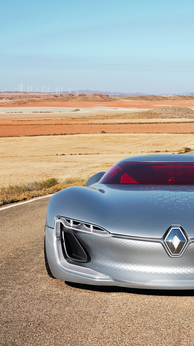 Wallpaper Renault Trezor Supercar Paris Auto Show 2016