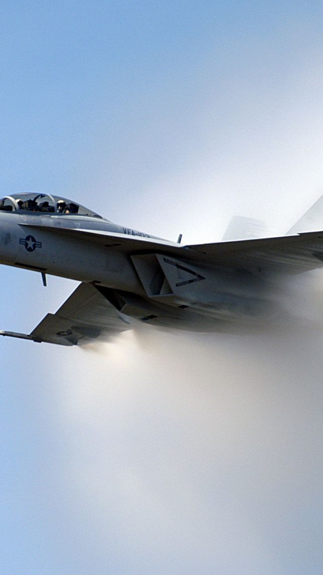F-18, fighter aircraft, U.S. Airforce (vertical)