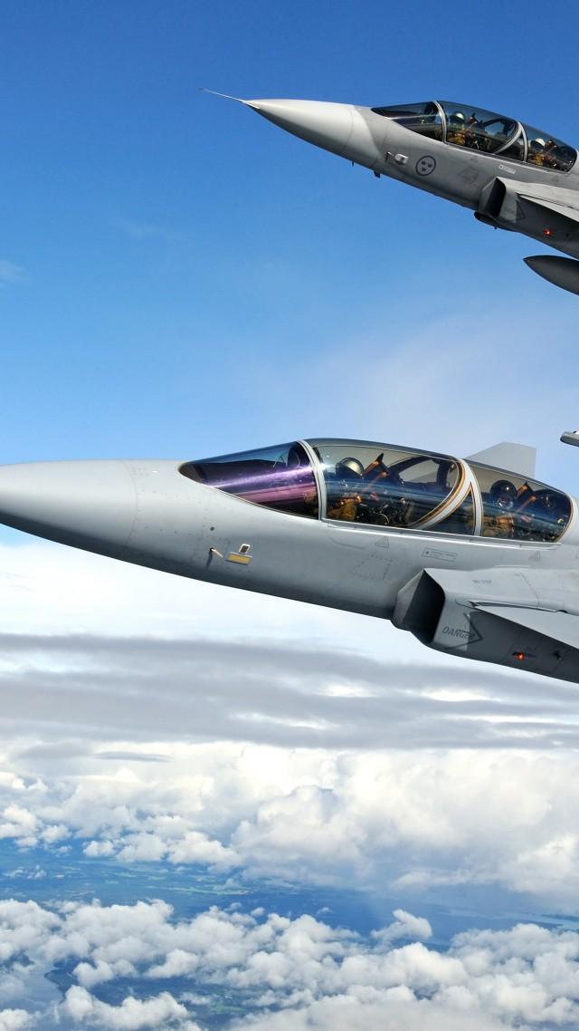 Textron Scorpion Jet News: Wallpaper Saab JAS 39 Gripen, Fighter Aircraft, Swedish