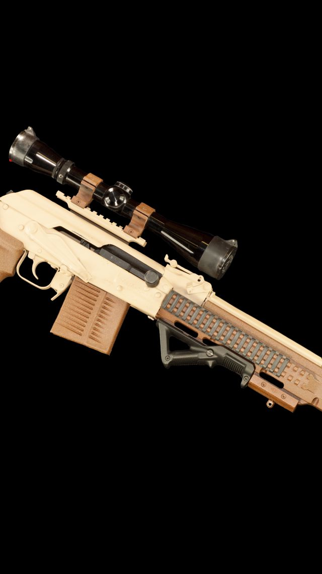 Wallpaper Saiga I2-308, Sniper Rifle, Military #12271