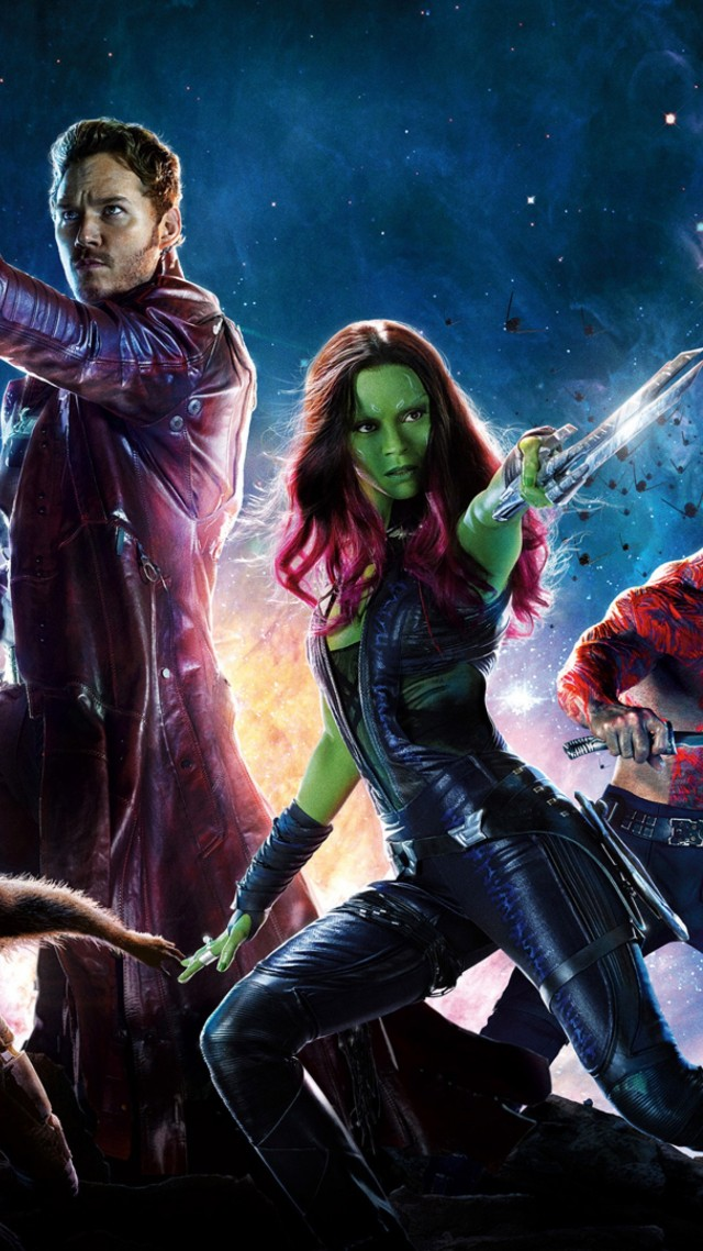 Guardians of the Galaxy Vol 2, Gamora, raccoon, Zoe Saldaña, best movies (vertical)