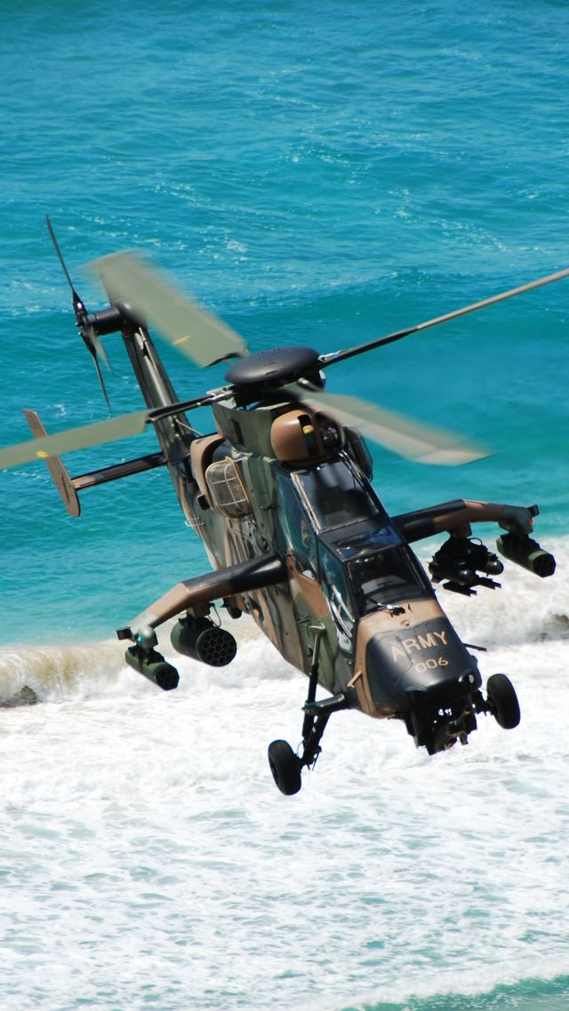 Eurocopter Tiger, attack helicopter, French Air Force, Australian Air Force, German Air Force (vertical)