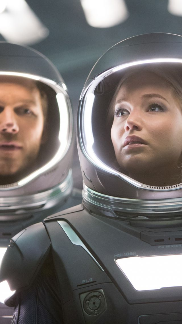 Passengers, Jennifer Lawrence, Chris Pratt (vertical)