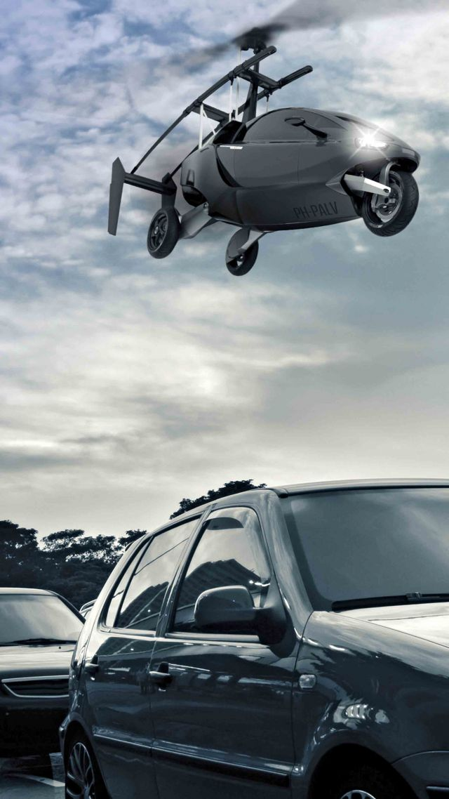 Pal-v One, flying car, helicycle (vertical)