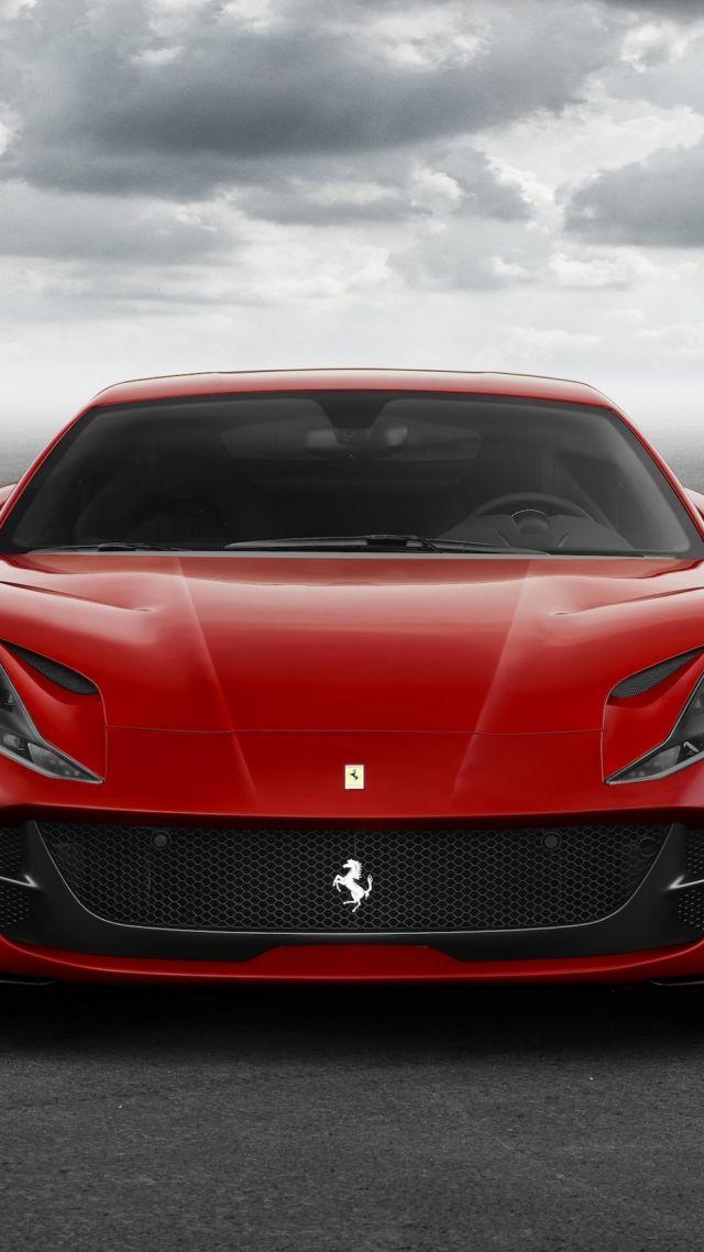 Wallpaper Ferrari 812 Superfast Supercar Front Cars