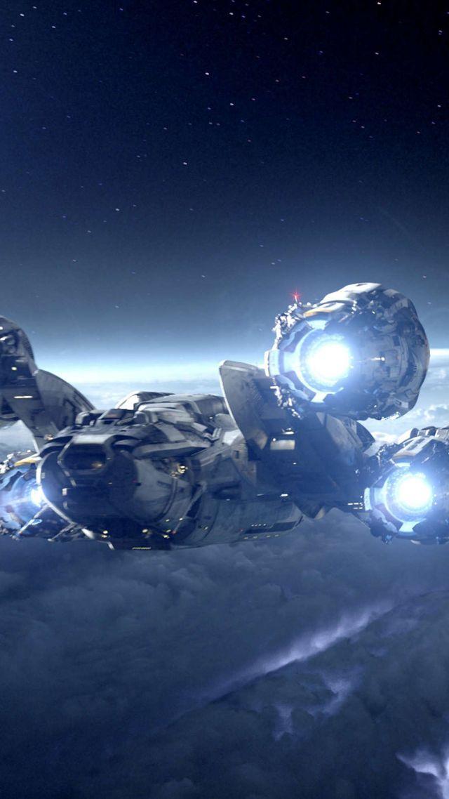 Wallpaper alien covenant 4k starship planet best - Space wallpaper 4k for mobile ...
