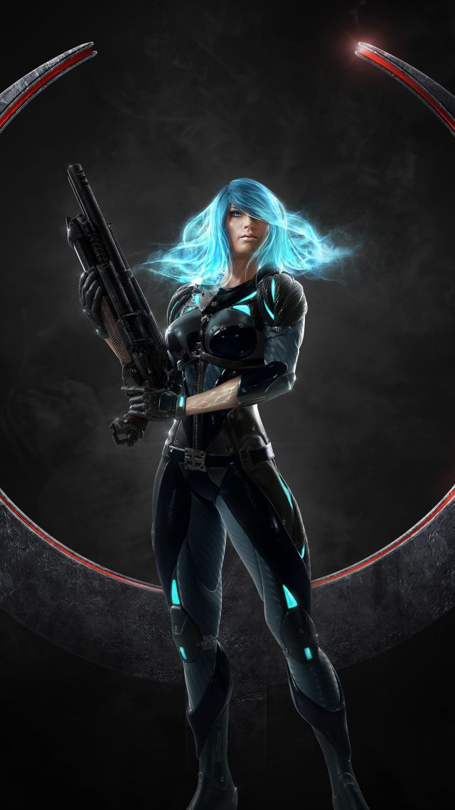 Quake Champions, shooter, Nyx, best games, pc (vertical)