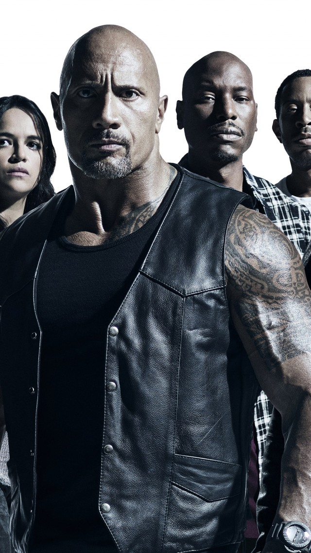 The Fate of the Furious, Vin Diesel, Dwayne Johnson, Jason Statham, Michelle Rodriguez, best movies (vertical)