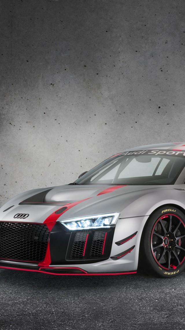 Wallpaper Audi R8 Lms Gt4 Sport Car Gray 2017 New York Auto Show