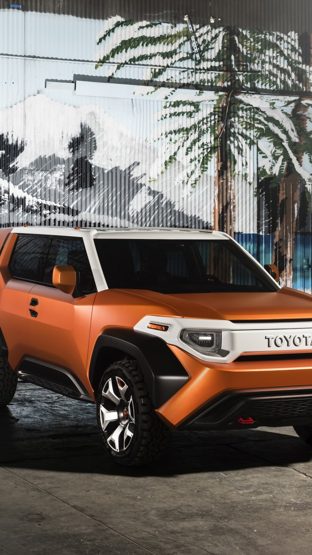 Toyota FT-4X, concept, orange, 2017 New York Auto Show (vertical)